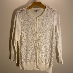 LOFT Factory cardigan sweater button up cream S